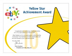 eBay Yellow Star Award